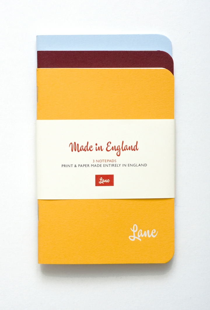 Lane Made in England Notebook