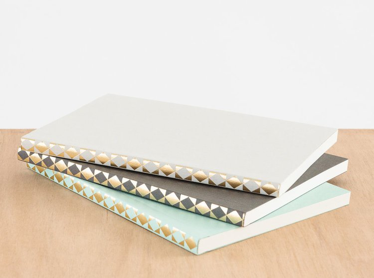 Ola Patterned Spine Notebook